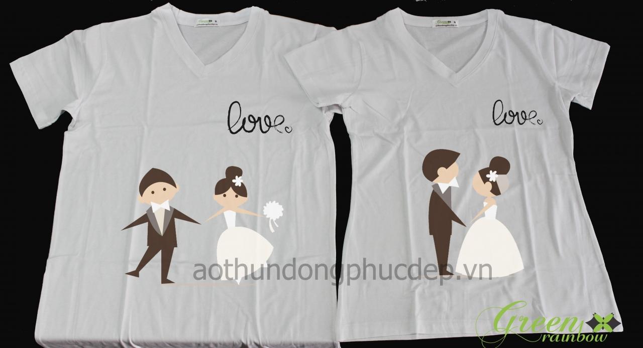 áo thun cặp hình cô dâu chú rể