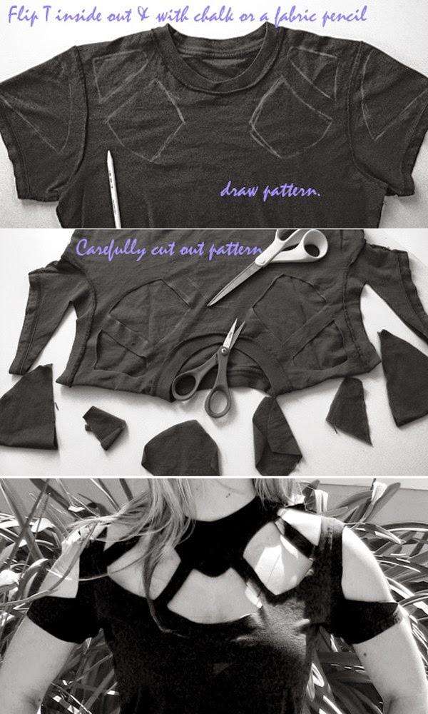 Áo cut out từ áo thun cũ