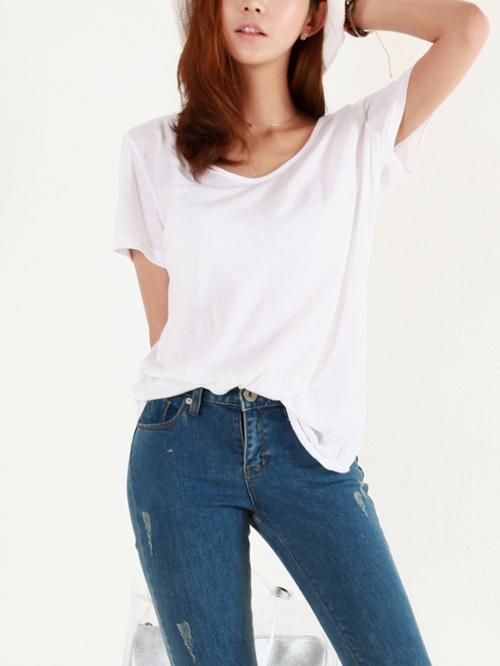 áo thun trắng free size
